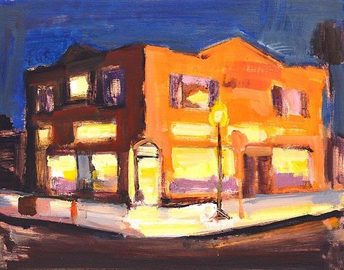 """Golden Hill Nocturne"" original fine art by Kevin Inman"