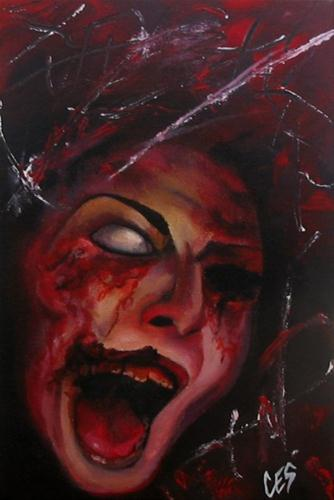 """Custom Zombie Portrait from your photo!"" original fine art by ~ces~ Christine E. S. Code"