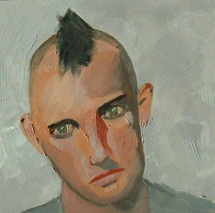 """""""FACE No. 109"""" original fine art by Linda Popple"""