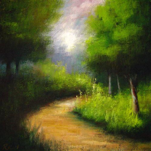 """Park Path 2"" original fine art by Bob Kimball"
