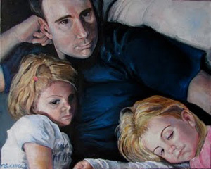 """Movie Night"" original fine art by Terri Buchholz"
