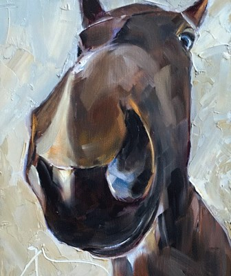 """Horse Sense"" original fine art by Gigi ."