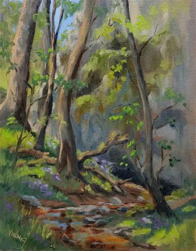 """Spring at Meramec State Park-en plein air"" original fine art by Veronica Brown"