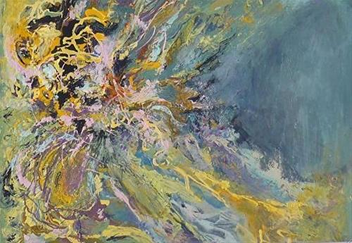 """""""Contemporary Abstract Painting Grotto by Contemporary New Orleans Artist Lou Jordan"""" original fine art by Lou Jordan"""