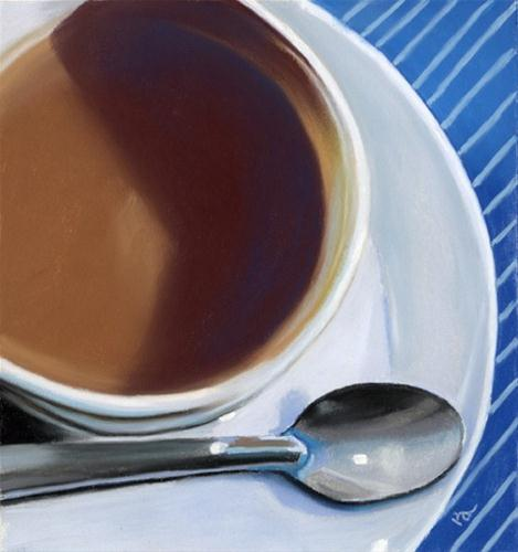 coffee and spoon original fine art by Ria Hills