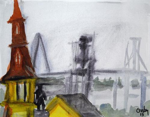"""The Bridge Beyond"" original fine art by Donna Crosby"