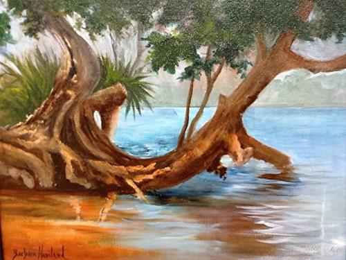 """Beach Cove"" original fine art by Barbara Haviland"
