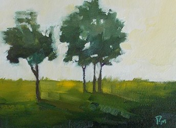 """Trees in Golden Light"" original fine art by Pamela Munger"