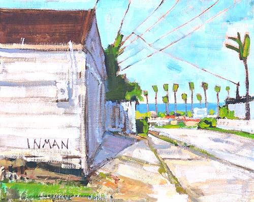 """""""Ocean Beach Painting, San Diego"""" original fine art by Kevin Inman"""