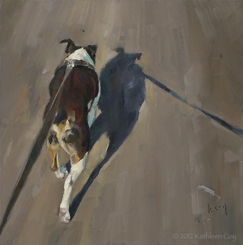 """Shadow Walk 5"" original fine art by Kathleen Coy"