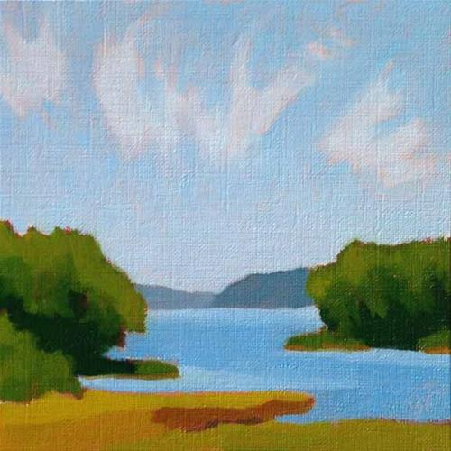 """Cirrus Over Tidewater"" original fine art by Bobbi Heath"