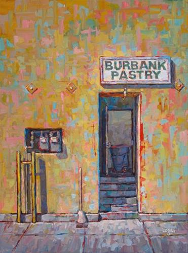 """Back Door at Burbank Pastry"" original fine art by Raymond Logan"