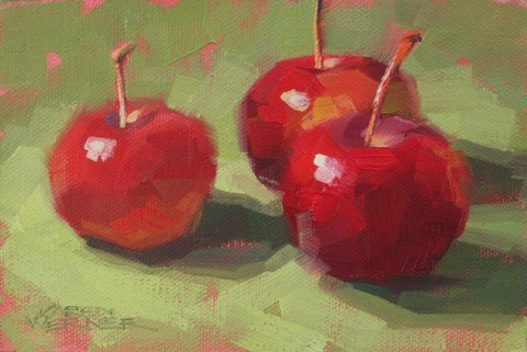 """Crab Apples"" original fine art by Karen Werner"