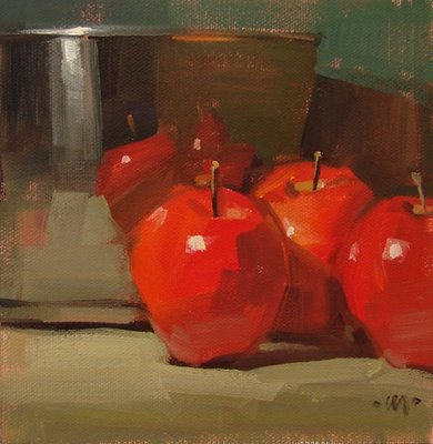 """Apple Pie?"" original fine art by Carol Marine"
