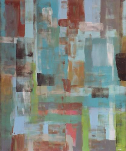 """""""Turquoise Happiness"""" original fine art by Angele Sage"""