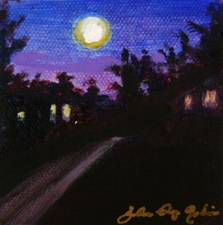 """That Big Fat Moon"" original fine art by JoAnne Perez Robinson"