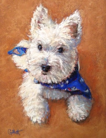 """My First Haircut"" original fine art by Cindy Gillett"