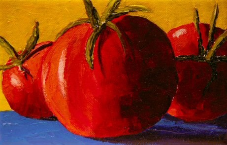 """Tomatoes a Trois"" original fine art by Mary McInnis"