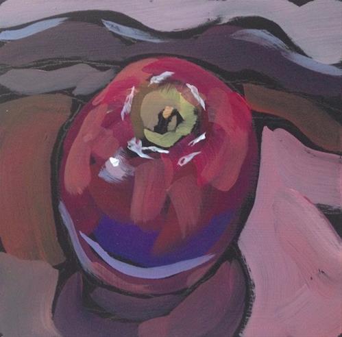 """A Daily Apple"" original fine art by Kat Corrigan"