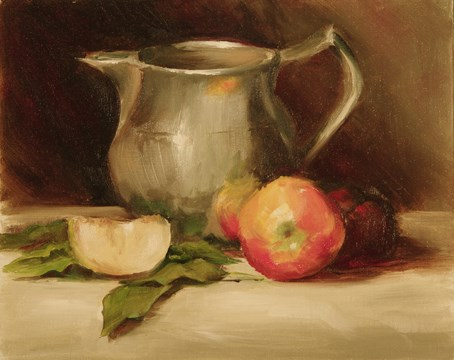 """Apples and Cream #1108"" original fine art by Dee Lessard"