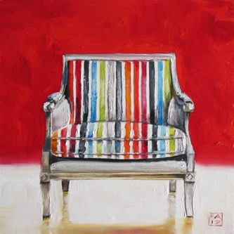 """chair candy"" original fine art by Kimberly Applegate"