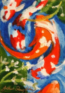 """Just Being Koi"" original fine art by JoAnne Perez Robinson"