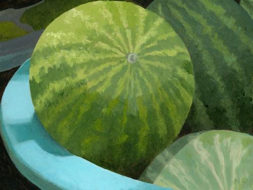"""WATERMELONS"" original fine art by Nancy Herman"