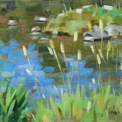 """Lakeside"" original fine art by Carol Marine"