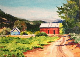 """The Path To Hoey Barn"" original fine art by JoAnne Perez Robinson"