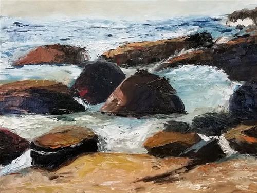 """Sand Beach II"" original fine art by Carla Hefley"