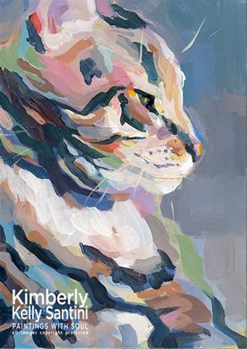 """Tabby Profile"" original fine art by Kimberly Santini"