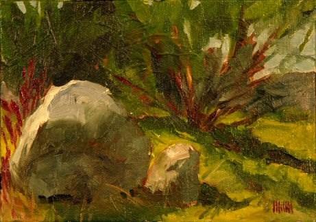 """Rocks"" original fine art by Mary McInnis"