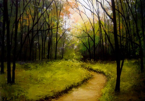 """Path to the Forest"" original fine art by Bob Kimball"