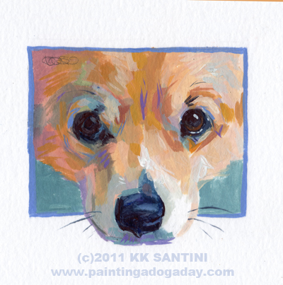 """Little Man Mirk, A Painted Sketch"" original fine art by Kimberly Santini"