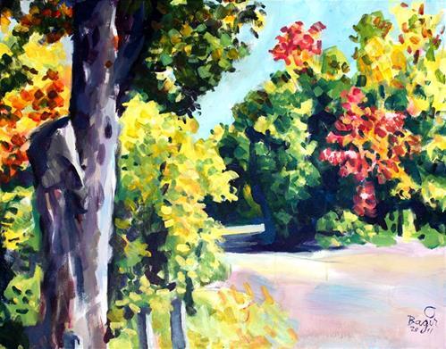 """Path #1"" original fine art by Elbagir Osman"