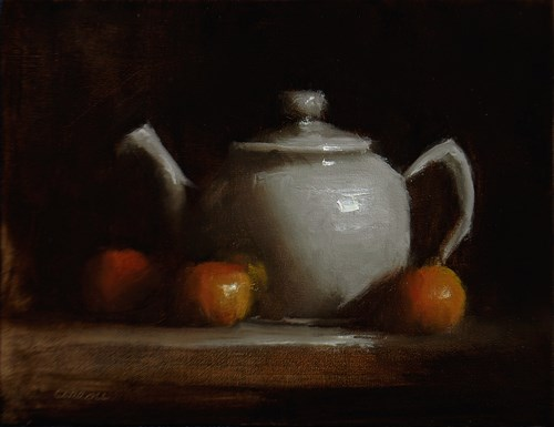 """Teapot"" original fine art by Neil Carroll"