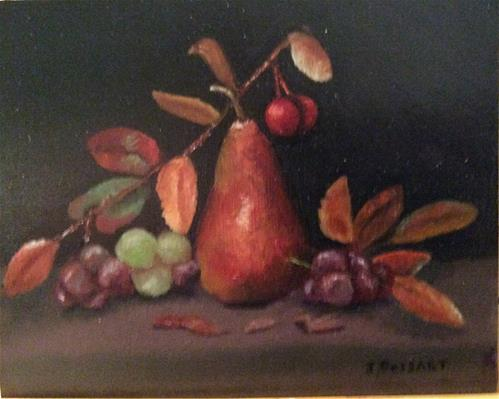 """Autumn Pear"" original fine art by Jeanne Bossart"