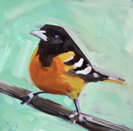 """Oriole"" original fine art by Jessica Green"