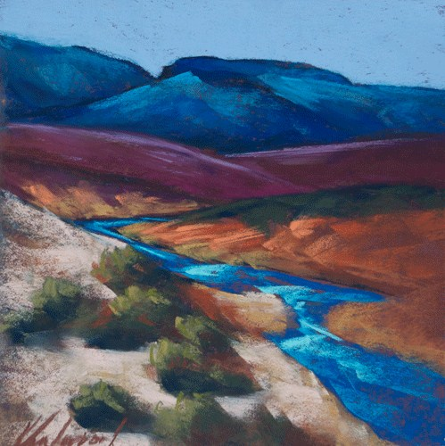 """Rio Chama's Journey"" original fine art by Karen Vanderpool"