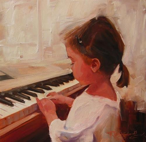 """The Gift of Joy  portrait, oil painting by Robin Weiss"" original fine art by Robin Weiss"