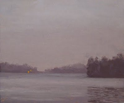 """Fog on the Lake"" original fine art by Abbey Ryan"