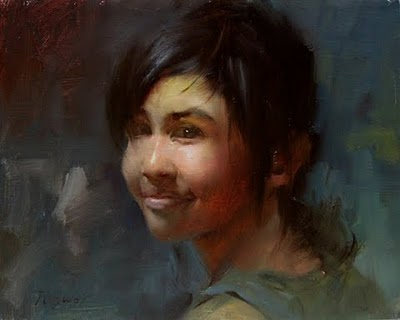"""Apple face"" original fine art by Fongwei Liu"