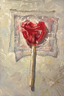 """Lollipop Heart"" original fine art by Raymond Logan"