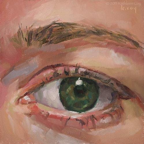 """Eye Study"" original fine art by Kathleen Coy"