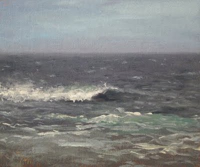 """Seascape No. 5"" original fine art by Abbey Ryan"