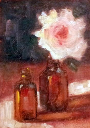 """Bottle Baby"" original fine art by Cindy Haase"