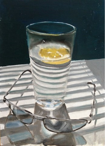 """Water and Sunglasses"" original fine art by James Coates"