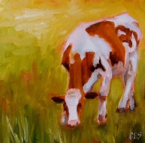 """Grazing"" original fine art by ~ces~ Christine E. S. Code"