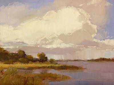 """Summer Rain"" original fine art by Laurel Daniel"