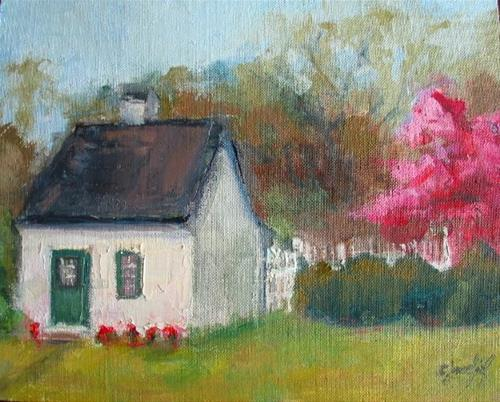 """Little Building at Belmont"" original fine art by Carol Josefiak"